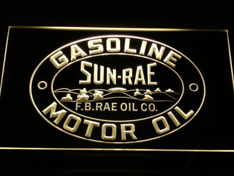 Image of Sunrae Gasoline & Motor Oil LED Neon Sign - Yellow - SafeSpecial