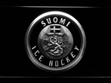 Suomi Ice Hockey LED Neon Sign - White - SafeSpecial
