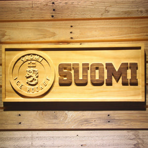 Suomi Ice Hockey Wooden Sign - Small - SafeSpecial