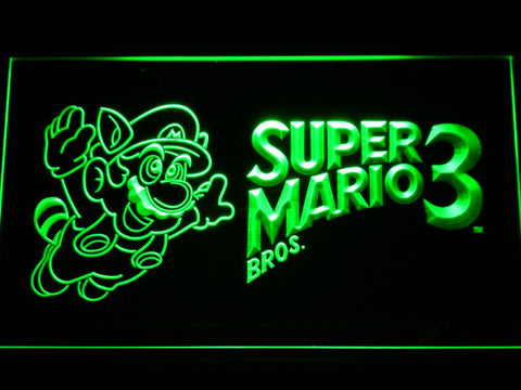 Image of Super Mario Bros. 3 LED Neon Sign - Green - SafeSpecial