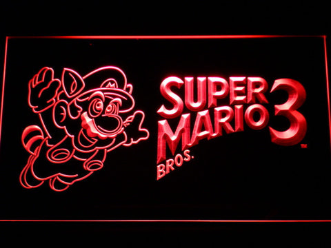 Image of Super Mario Bros. 3 LED Neon Sign - Red - SafeSpecial