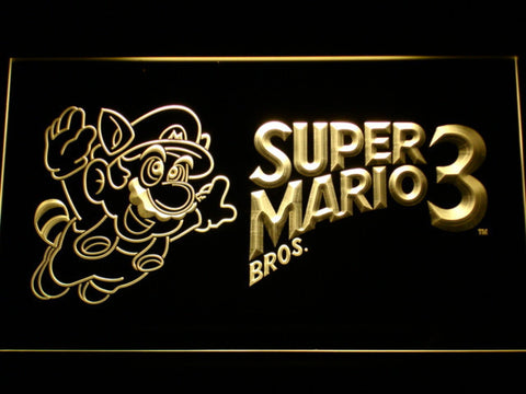 Image of Super Mario Bros. 3 LED Neon Sign - Yellow - SafeSpecial