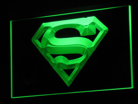 Superman LED Neon Sign - Green - SafeSpecial