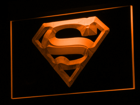 Superman LED Neon Sign - Orange - SafeSpecial