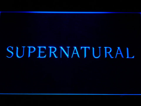 Image of Supernatural LED Neon Sign - Blue - SafeSpecial