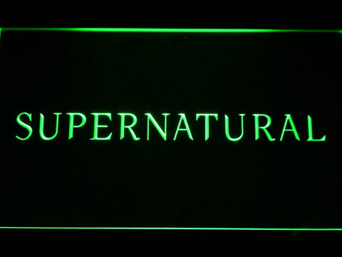 Image of Supernatural LED Neon Sign - Green - SafeSpecial