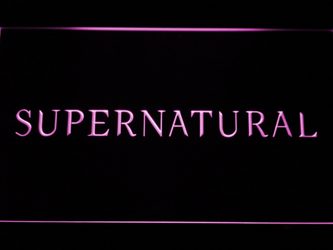 Image of Supernatural LED Neon Sign - Purple - SafeSpecial