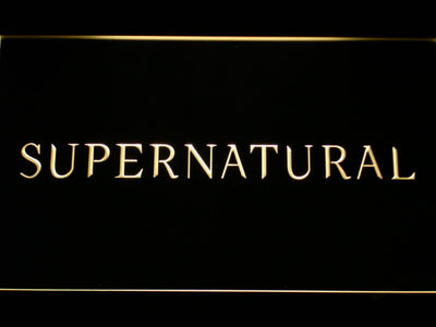Supernatural LED Neon Sign - Yellow - SafeSpecial