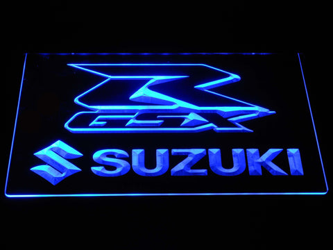 Suzuki GSX-R LED Neon Sign - Blue - SafeSpecial