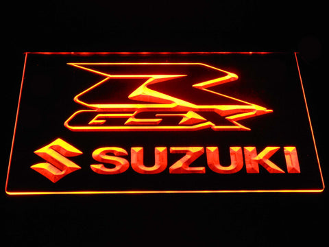 Suzuki GSX-R LED Neon Sign - Orange - SafeSpecial