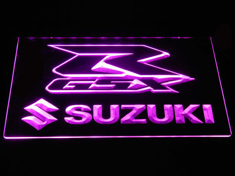 Suzuki GSX-R LED Neon Sign - Purple - SafeSpecial