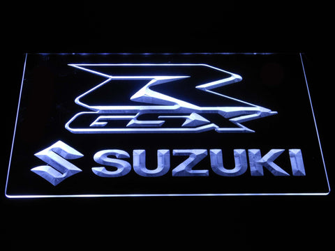 Suzuki GSX-R LED Neon Sign - White - SafeSpecial