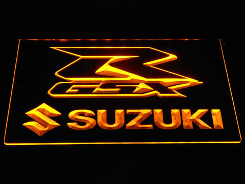 Suzuki GSX-R LED Neon Sign - Yellow - SafeSpecial