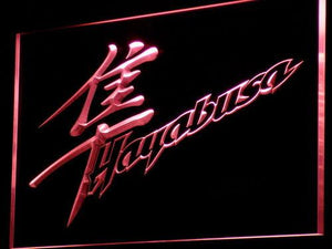 Suzuki Hayabusa LED Neon Sign - Red - SafeSpecial