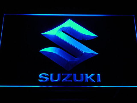 Image of Suzuki LED Neon Sign - Blue - SafeSpecial