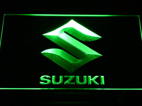 Image of Suzuki LED Neon Sign - Green - SafeSpecial