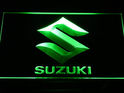 Suzuki LED Neon Sign - Green - SafeSpecial