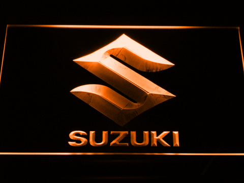 Image of Suzuki LED Neon Sign - Orange - SafeSpecial