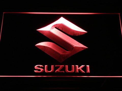 Image of Suzuki LED Neon Sign - Red - SafeSpecial
