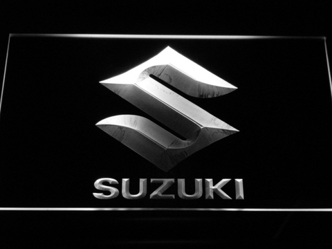 Image of Suzuki LED Neon Sign - White - SafeSpecial