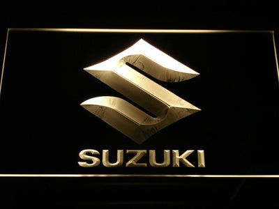 Suzuki LED Neon Sign - Yellow - SafeSpecial