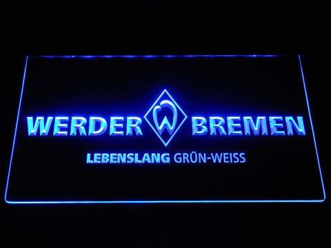 Image of SV Werder Bremen LED Neon Sign - Blue - SafeSpecial
