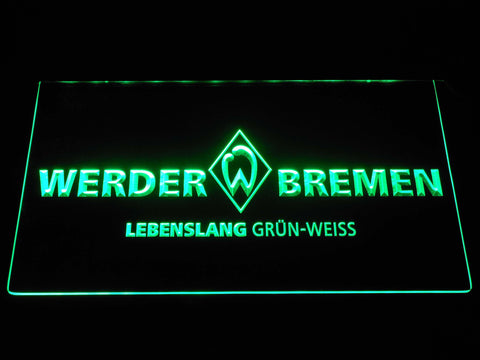 Image of SV Werder Bremen LED Neon Sign - Green - SafeSpecial
