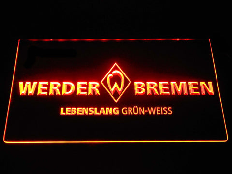 Image of SV Werder Bremen LED Neon Sign - Orange - SafeSpecial