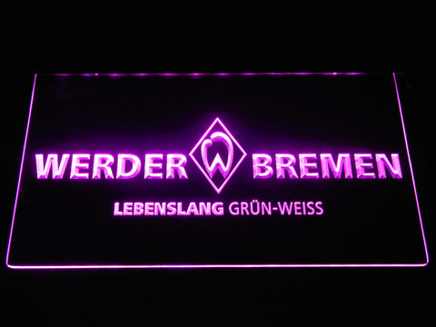 Image of SV Werder Bremen LED Neon Sign - Purple - SafeSpecial