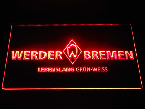 Image of SV Werder Bremen LED Neon Sign - Red - SafeSpecial