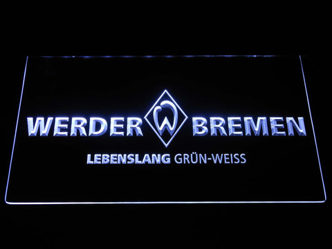 Image of SV Werder Bremen LED Neon Sign - White - SafeSpecial