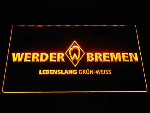 Image of SV Werder Bremen LED Neon Sign - Yellow - SafeSpecial