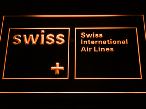 Swiss International Airlines LED Neon Sign - Orange - SafeSpecial