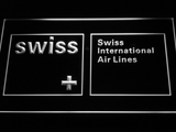 Swiss International Airlines LED Neon Sign - White - SafeSpecial