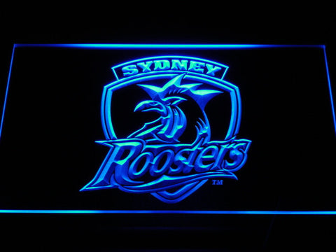 Sydney Roosters LED Neon Sign - Blue - SafeSpecial
