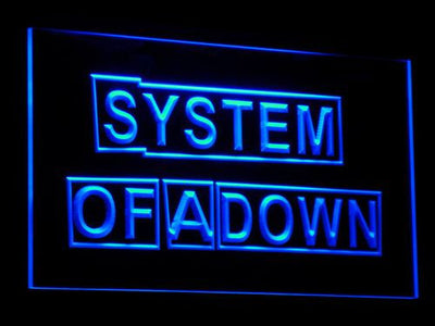 System Of A Down LED Neon Sign - Blue - SafeSpecial
