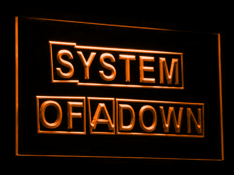 Image of System Of A Down LED Neon Sign - Orange - SafeSpecial