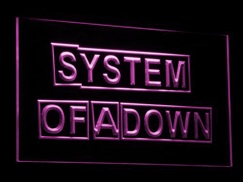 Image of System Of A Down LED Neon Sign - Purple - SafeSpecial