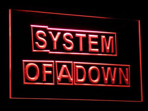 Image of System Of A Down LED Neon Sign - Red - SafeSpecial