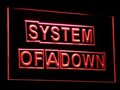 System Of A Down LED Neon Sign - Red - SafeSpecial
