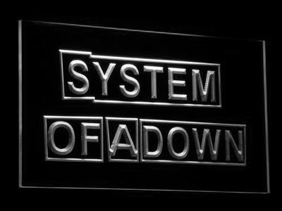 System Of A Down LED Neon Sign - White - SafeSpecial