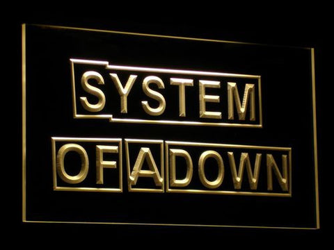 Image of System Of A Down LED Neon Sign - Yellow - SafeSpecial