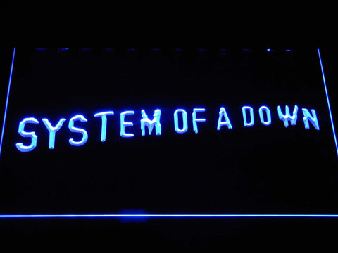 System Of A Down Toxicity LED Neon Sign - Blue - SafeSpecial