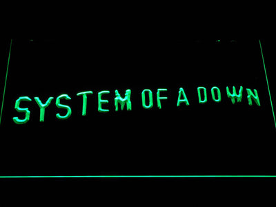 System Of A Down Toxicity LED Neon Sign - Green - SafeSpecial