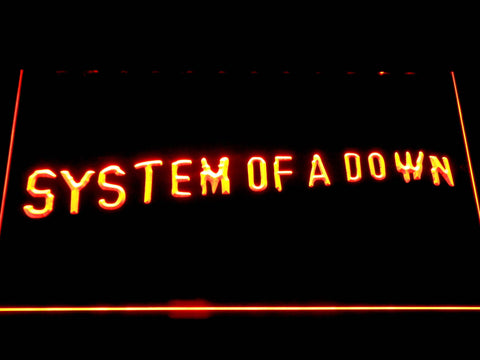 Image of System Of A Down Toxicity LED Neon Sign - Orange - SafeSpecial