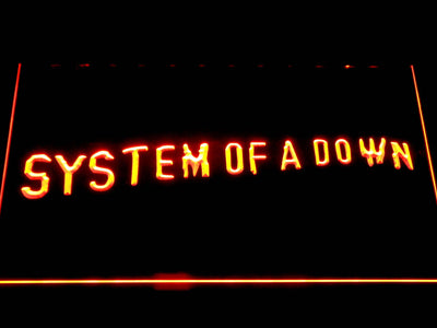 System Of A Down Toxicity LED Neon Sign - Orange - SafeSpecial