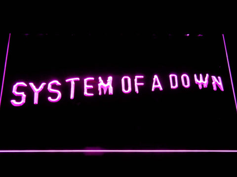 Image of System Of A Down Toxicity LED Neon Sign - Purple - SafeSpecial