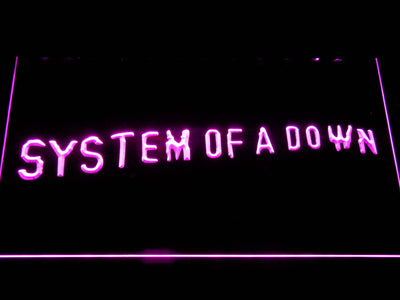 System Of A Down Toxicity LED Neon Sign - Purple - SafeSpecial