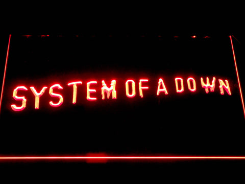 System Of A Down Toxicity LED Neon Sign - Red - SafeSpecial