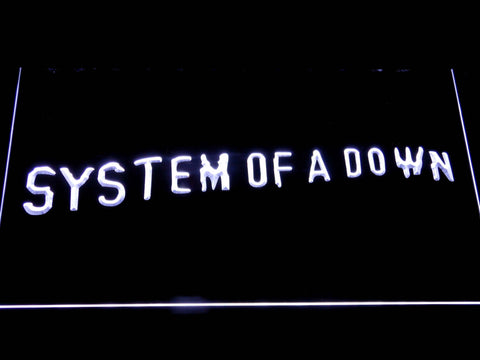 System Of A Down Toxicity LED Neon Sign - White - SafeSpecial